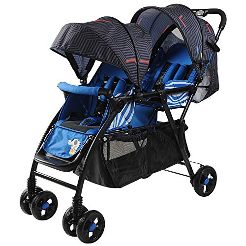 RUMIAO DuoGlider Click Connect Stroller,Shock Absorber Tandem Double Toddler, Foldable Baby Stroller DuoGlider Click Connect Stroller,Shock Absorber Tandem Double Toddler, Foldable Baby Stroller,Blue