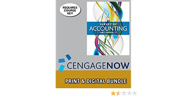 Amazon bundle survey of accounting 7th cengagenow 1 term amazon bundle survey of accounting 7th cengagenow 1 term printed access card 9781305134300 carl s warren books fandeluxe Image collections