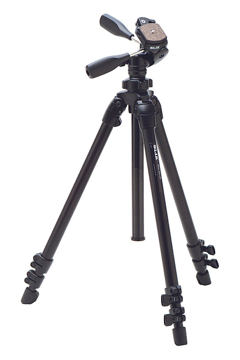 Slik ABLE 300DX Compact Photo Video Tripod - Black by Slik