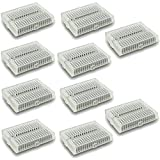 Optimus Electric 10pcs Transparent Mini Solderless Prototype Electronic Breadboard White 170 Tie Points from