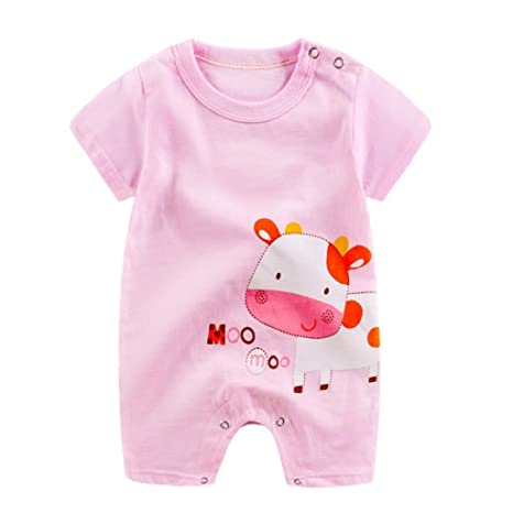 POLP Bebé Monos (◉ω◉) Recién nacido Bebé Unisex carta Impresión Camiseta Monos unisex Conjuntos para,Niña Niño 3-24meses Ropa Verano,Pijama Niños Mameluco ...