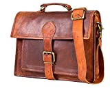 Handolederco 13'' Leather Messenger Satchel Leather Laptop Briefcase Messenger Satchel Men's and Women Bag Best Leather Office Bag