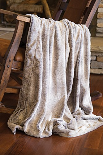 Faux Fur Throw Blanket, Grey (Faux Mink Blankets)