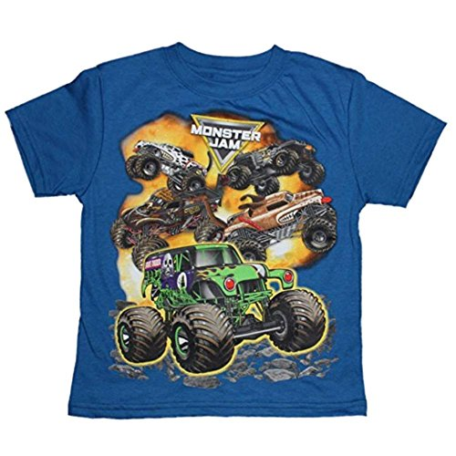 Monsters T Shirts (Monster Jam Boys T-shirt 6-16 (L (10/12)))