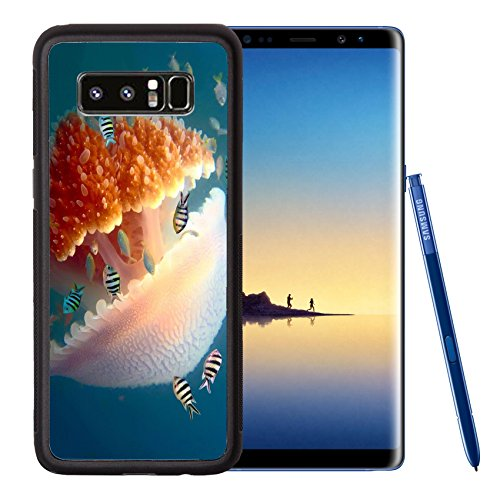 Liili Premium Samsung Galaxy Note8 Aluminum Backplate Bumper Snap Case Peaceful image of a mosaic jellyfish IMAGE ID 12817422
