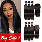Best Hair Bundles With Free Parts - Brazilian Hair With Closure 3 Bundles Unprocessed Virgin Review