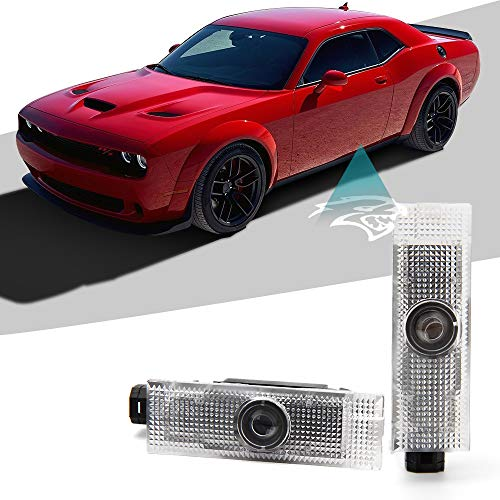 CAR ROVER Car Door LED Logo Projector Lights Welcome Ghost Shadow Courtesy Step Lamp for 2015-2018 Dodge Challenger Series (Pack of 2)