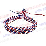 RED, WHITE & BLUE DUO MUAY THAI KICKBOXING RING FIGHTERS TRADITIONAL PRAJIOUD PRAJEAT ARM BANDS