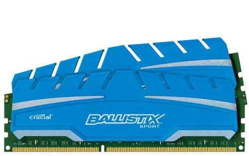 Crucial Ballistix Ddr3 (Ballistix Sport XT 16GB Kit 8GBx2 DDR3 1600 MT/s PC3-12800 CL9 at 1.5V UDIMM 240-Pin Memory Modules BLS2K8G3D169DS3)