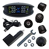 Universal Car TPMS Colorful LCD Monitor & External Sensors With Tire Pressure Monitoring & Temperature Monitoring