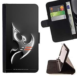 BullDog Case - FOR/Samsung Galaxy S5 Mini, SM-G800 / - / Silver Falcon Eagle /- Monedero de cuero de la PU Llevar cubierta de la caja con el ID Credit Card Slots Flip funda de cuer