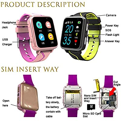 Jesam Kids Smart Watch With Music Player - Childrens Sports Watch With MP3 Player Bluetooth Smartwatch with Activity Fitness Tracker Pedometer Camera FM Alarm Clock Flashlight for Girls Boys from Jesam