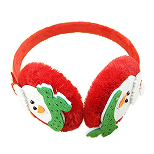 Children Earmuffs-ViewHuge Christmas Boys Girls Winter Warm Lovely Snowman Plush Ear Thick Ear Muffs EarMuff Earwarmers Ear Pads For Kids Gift