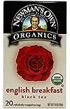 Newman's Own Organics English Breakfast Black Tea, 20 Tea Bags