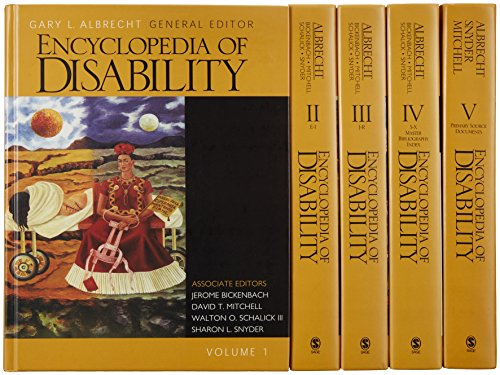 Encyclopedia of Disability, 5 volume set