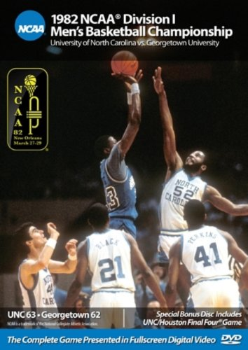 1982 NCAA Division I Men's Basketball Championship: UNC vs. Georgetown University by Football Fanatics