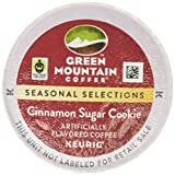 Green Mountain Coffee Seasonal Selections Cinnamon Sugar Cookie Single Serve Keurig K-Cup Pods, Light Roast Coffee, 12 Count