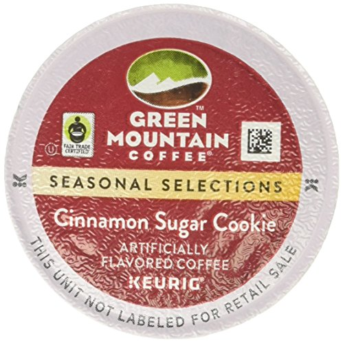 (Green Mountain Coffee Seasonal Selections Cinnamon Sugar Cookie Single Serve Keurig K-Cup Pods, Light Roast Coffee, 12 Count)