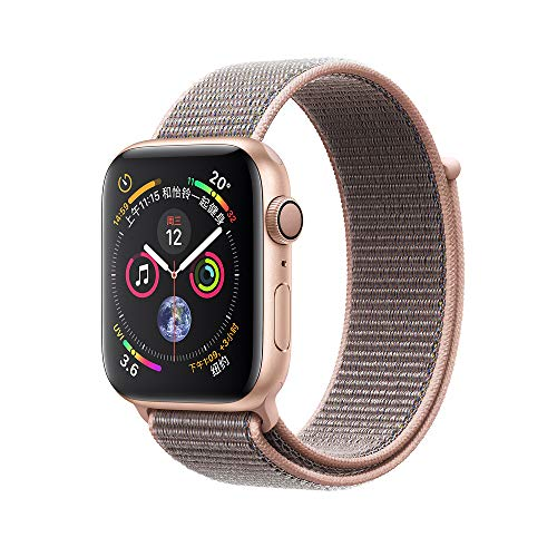 Hunter-k Compatible with Apple Watch Band 42mm, Soft Breathable Woven Nylon Replacement Sport Loop Band for Apple Watch Series 3/2/1 Sport Edition (Pink Sand, 42mm)