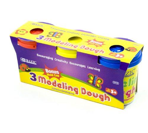 BAZIC 5 Oz. Multi Color Modeling Dough (3/Pack) (Case of 24) (3312-24)