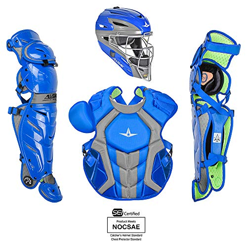 All-Star System7 Axis Pro Catchers Set Royal/Grey -