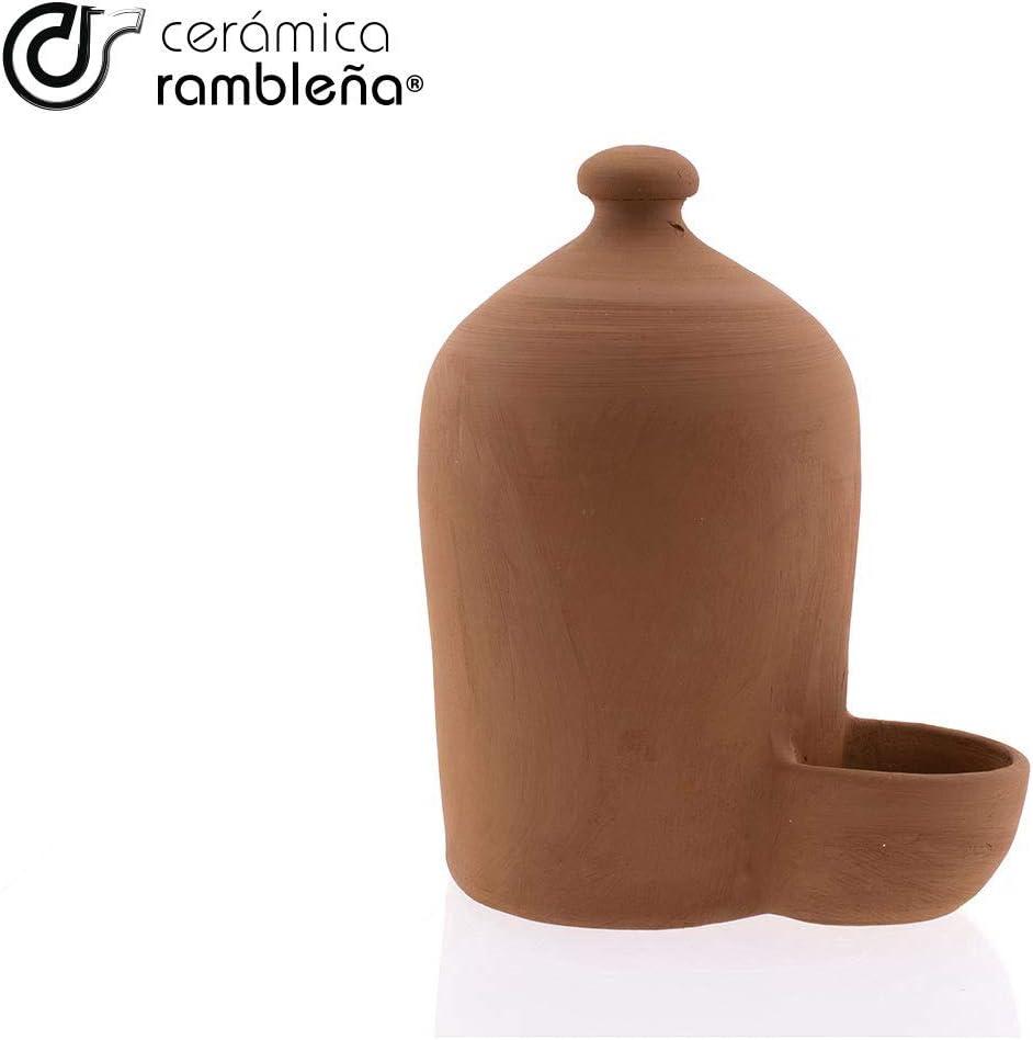 100 /% handgefertigt Cordoba H/ühner Eco 1 Liter Tr/änke f/ür Katzen Tr/änke roter Schaft Hundetr/änke Keramik Rambelna