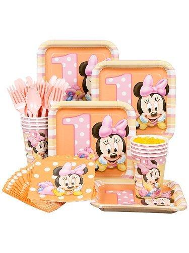 Costume Supercenter BB102088 Minnie 1st Birthday Standard Kit Serves 8 Guests