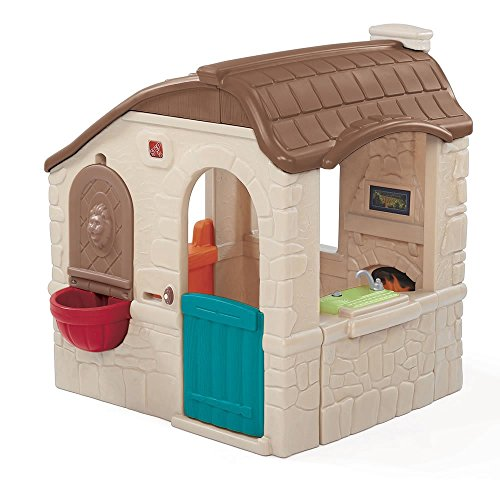 Step2 Naturally Playful Countryside Cottage Playhouse for Toddlers - Durable Backyard Children Play ()