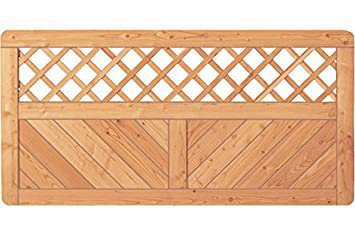 Berühmt Sichtschutzzaun Holz Lärche Gitter 180 x 90 cm (Serie Pöhl UB89