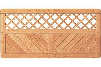 Sichtschutzzaun Holz Larche Gitter 180 X 90 Cm Serie Pohl Amazon