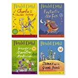 Roald Dahl Large Bedtime Storybook Collection Boxed Set 4 Books Full-Color Illustrations James and the Giant Peach, Fantastic Mr. Fox, Charlie and the Chocolate Factory, George's Marvellous Medicine