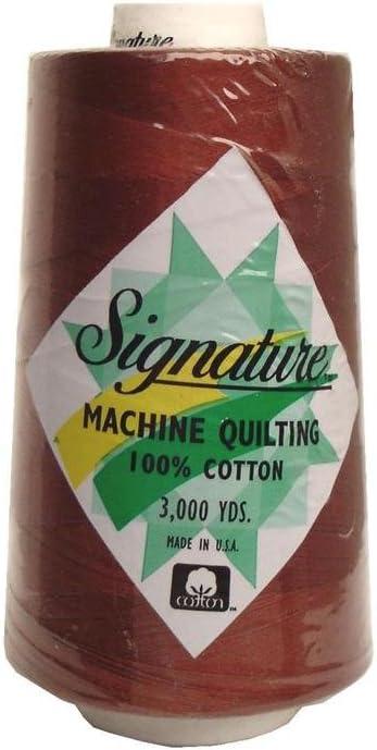 Signature Thread Signature Ctn 3000yd 100/% Cotton Quilt Thread 3000 Rust