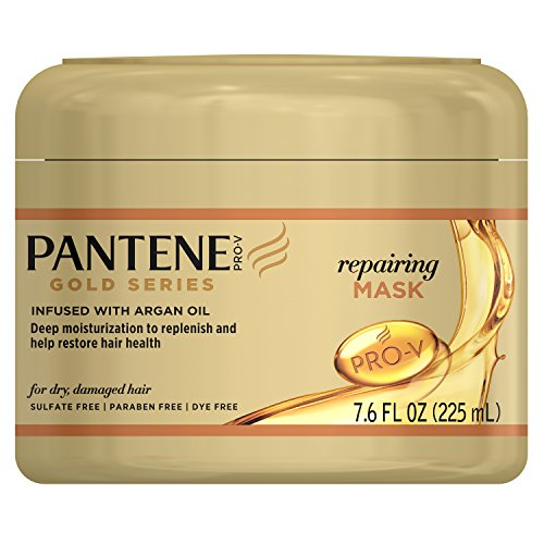 Pantene Repairing Mask Hair Treatment, Butter Crème Hair Treatment, Pro-V Gold Series, for Natural and Curly Textured Hair, 7.6 fl oz