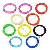 WOL3D (10 in 1) 10 pcs * 5m each Pla 3D Pen Filament 5m each