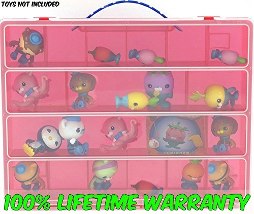 Life Made Better Toy Storage Organizer. Fits Up to 30 Figures. Compatible With Fisher Price Octonauts TM Mini Figures