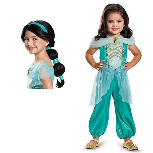 Aladdin Genie Mask (Disney Princess Jasmine Classic Child Costume Bundle Set 4-6X)
