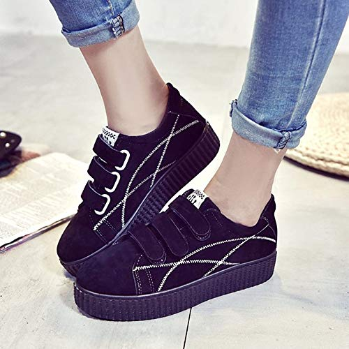 PU Black Punta con Sneakers Redonda Cordones ZHZNVX Comfort Negro Gris Zapatos Mujer de Fall CAnwqtOF