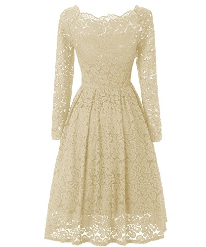 beige lace summer dress - 1