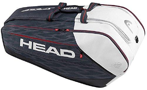 - HEAD Djokovic 12R Monstercombi Tennis Bag, Navy/Black/White