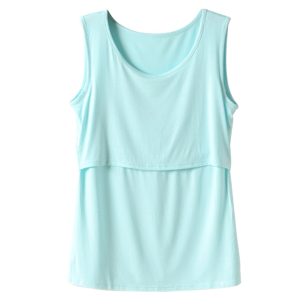 Zerlar Women's Breastfeeding Maternity Nursing Tank Top Tee Vest ZE-KMBNW1