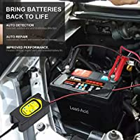 Motorcycles 12V//6V Car Battery Charger Maintainer with Automatic Portable Battery 3-Steps Charging Trickle Float Deep Cycle Charging for Cars 3A ATVs AGM Gel cell Lead Acid Batteries