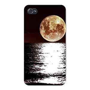 Apple Iphone Custom Case 5c Snap on - Large Moon Over Lake Water Reflection
