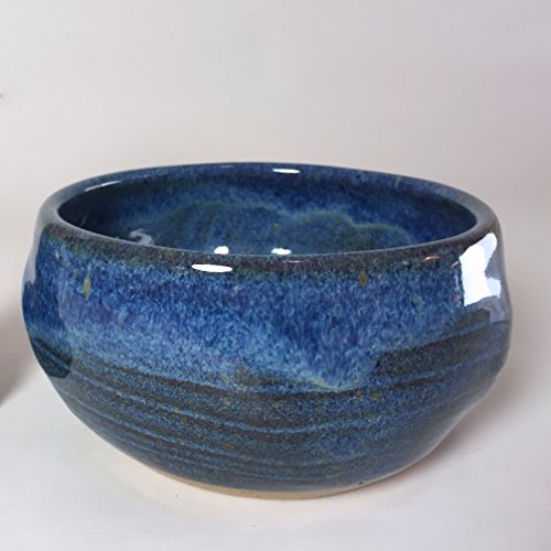 Handmade Blue Pottery Shaving Bowl For Men