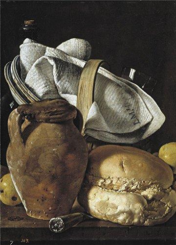 Oil painting 'Melendez Luis Egidio Bodegon cantarilla y pan Third quarter of 18 Century ' printing on high quality polyster Canvas , 16 x 22 inch / 41 x 56 (Third Wheel Halloween Costumes)