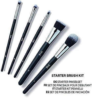 FIND - Kit de iniciación - Pincel para sombras, de difuminado, de labios, para base de maquillaje y para colorete (5 pinceles) - n.º 04, n.º 06, n.º 07, n.º 08, n.º