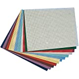 """Plastic Canvas Sheets 10-1/2""""x13-1/2"""" - Assorted (pack of 12)"""