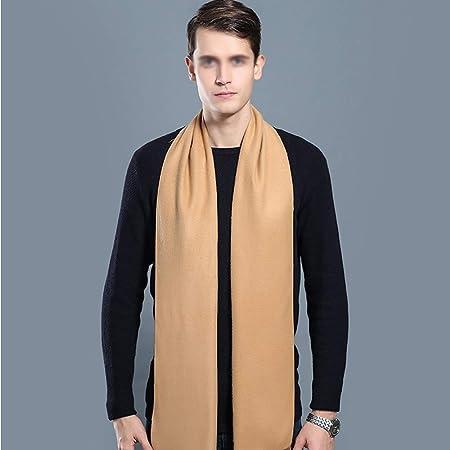 Wuxingqing Bufanda para Hombre Brown pañuelo for el Cuello de la ...