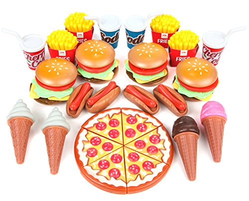 Play food set for kids huge 202 piece pretend food toys for Perfect kitchen sharjah