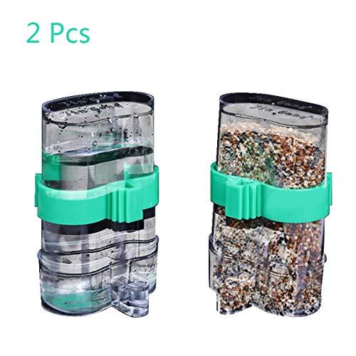 - Wpmlady 2 Pcs Automatic Bird Waterer Food Feeder, Birds Clear Dispenser Feed, Bird Feed Water Dispenser