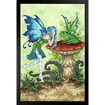 Frog Gossip by Amy Brown Art Print Poster 12x18 inch